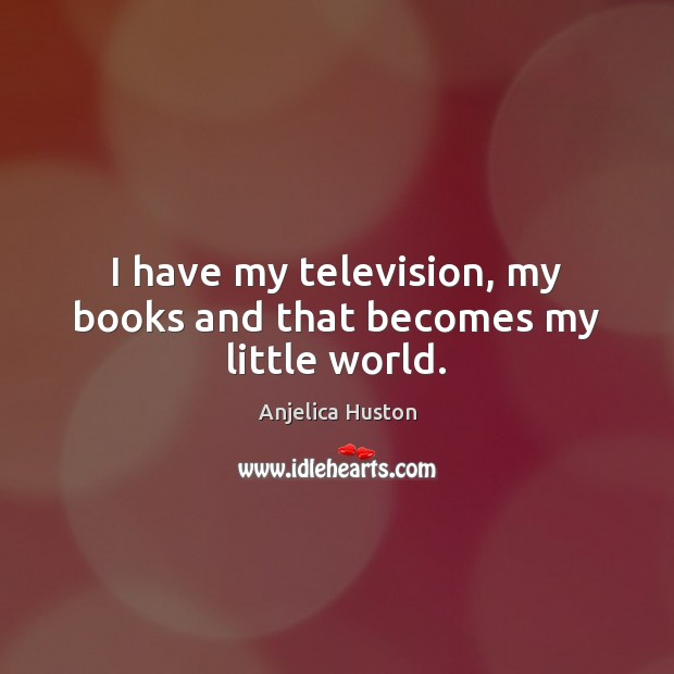 Image, I have my television, my books and that becomes my little world.
