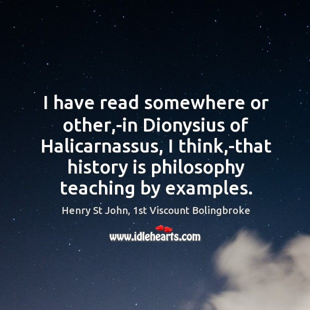 Image, I have read somewhere or other,-in Dionysius of Halicarnassus, I think,