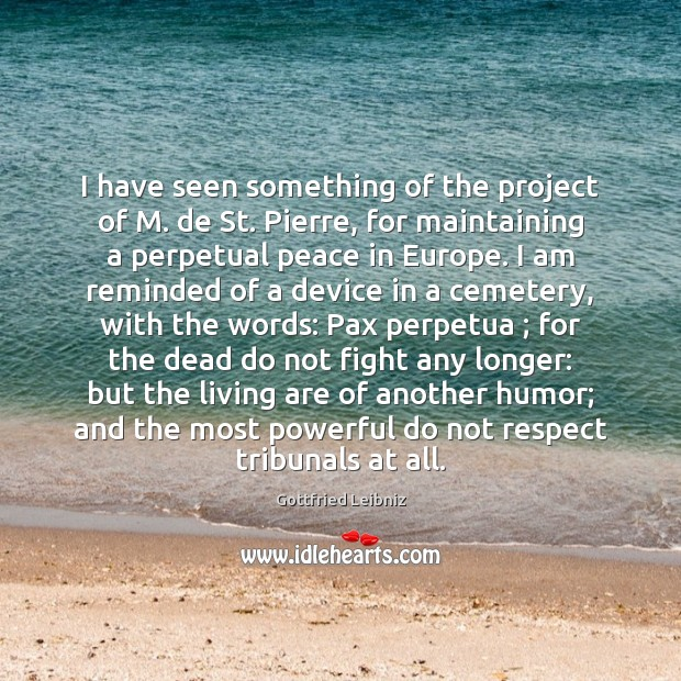 I have seen something of the project of M. de St. Pierre, Image