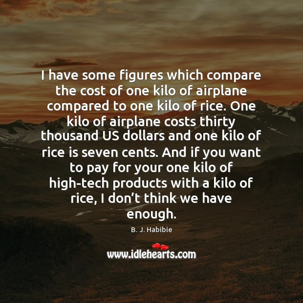 I have some figures which compare the cost of one kilo of Compare Quotes Image