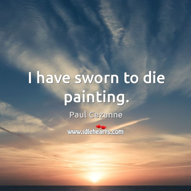 I have sworn to die painting. Image