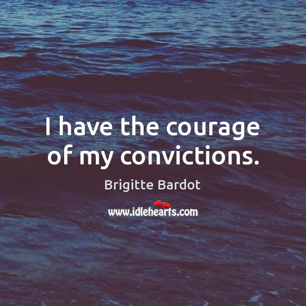I have the courage of my convictions. Image