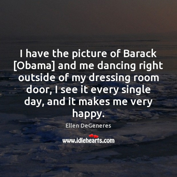 Image, I have the picture of Barack [Obama] and me dancing right outside