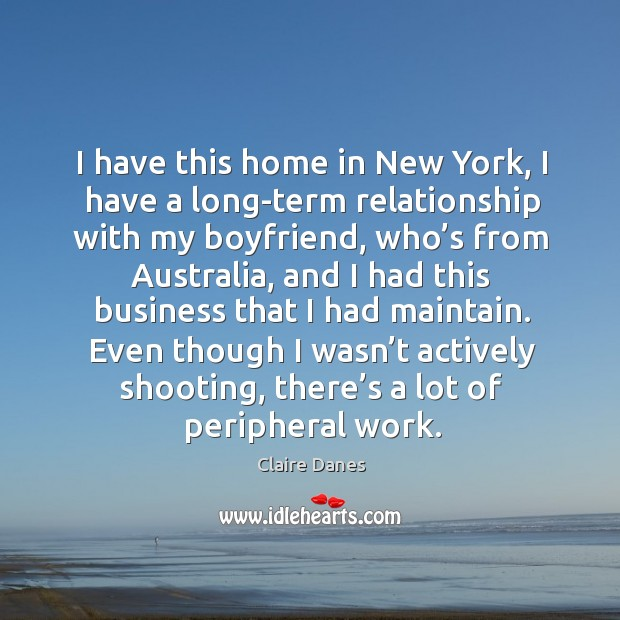 I have this home in new york, I have a long-term relationship with my boyfriend, who's Image