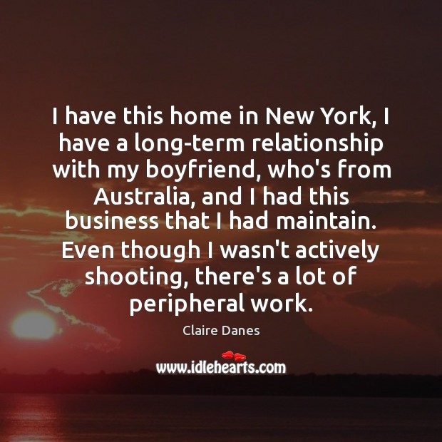 I have this home in New York, I have a long-term relationship Image