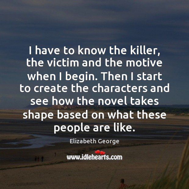 I have to know the killer, the victim and the motive when Image