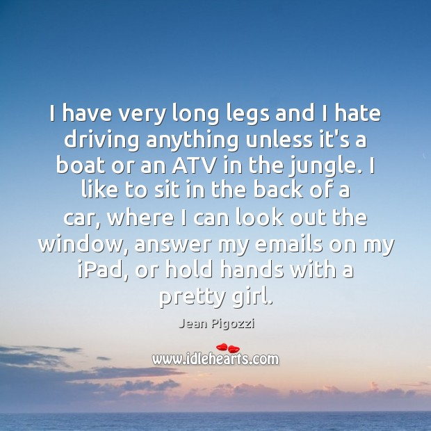 I have very long legs and I hate driving anything unless it's Image