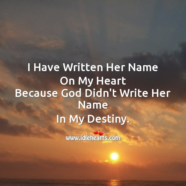 I have written her name  on my heart Image