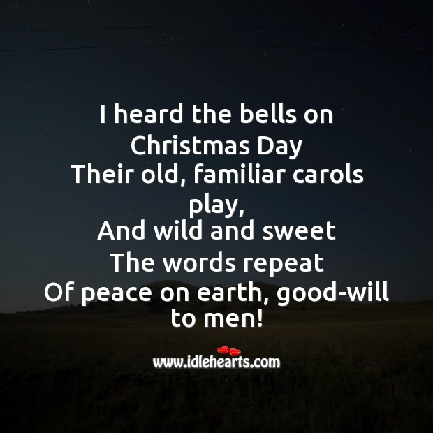 I heard the bells on christmas day Image