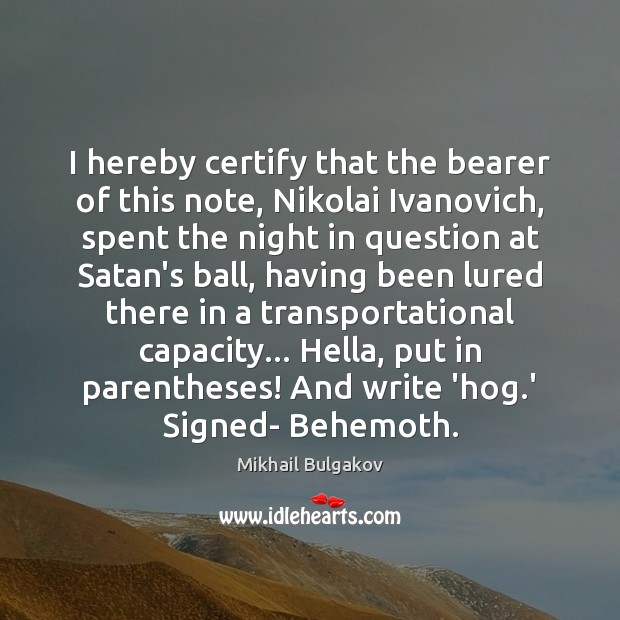 Image, I hereby certify that the bearer of this note, Nikolai Ivanovich, spent
