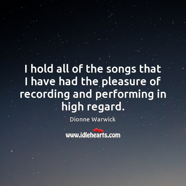 I hold all of the songs that I have had the pleasure Image