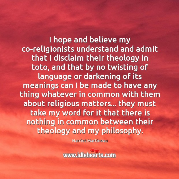 Image, I hope and believe my co-religionists understand and admit that I disclaim