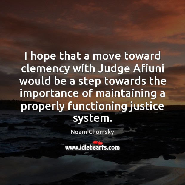 I hope that a move toward clemency with Judge Afiuni would be Image