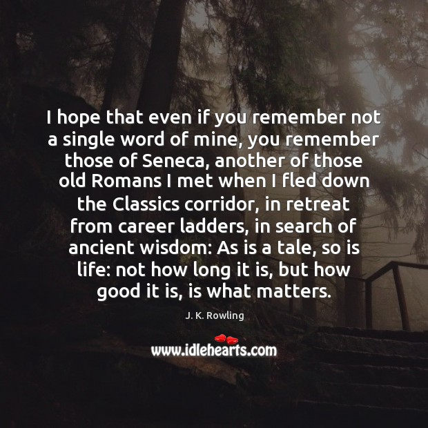I hope that even if you remember not a single word of Image