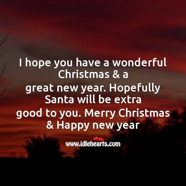 I hope you have a wonderful christmas Christmas Messages Image