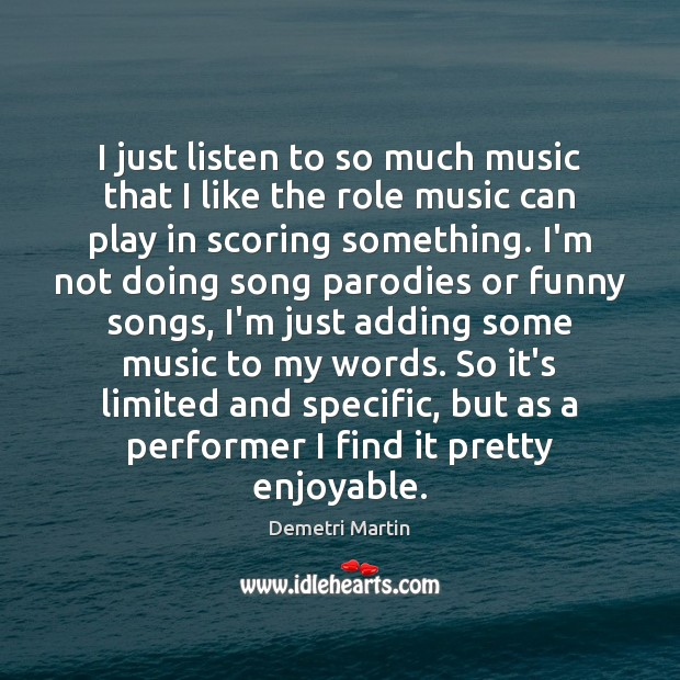 Image about I just listen to so much music that I like the role