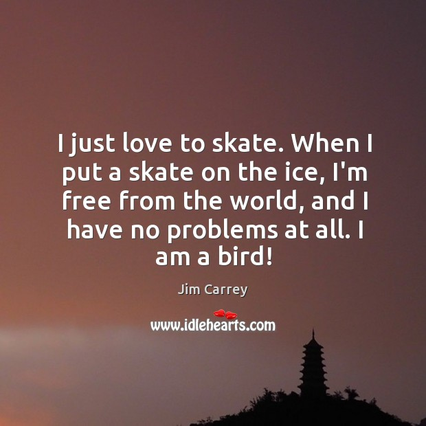 I just love to skate. When I put a skate on the Image