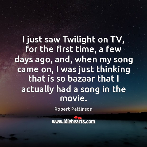 Image, I just saw Twilight on TV, for the first time, a few