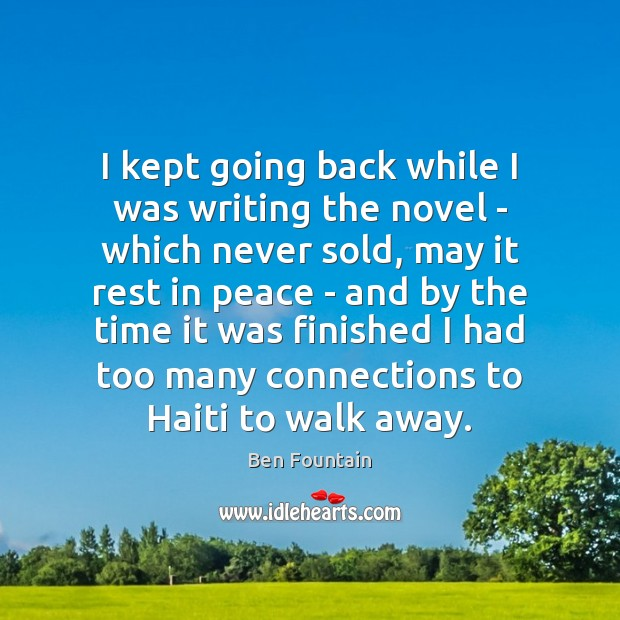Image, I kept going back while I was writing the novel – which