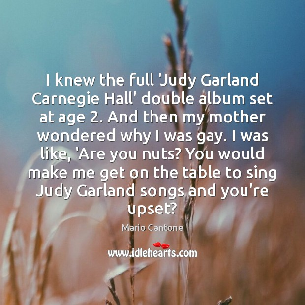 Image, I knew the full 'Judy Garland Carnegie Hall' double album set at