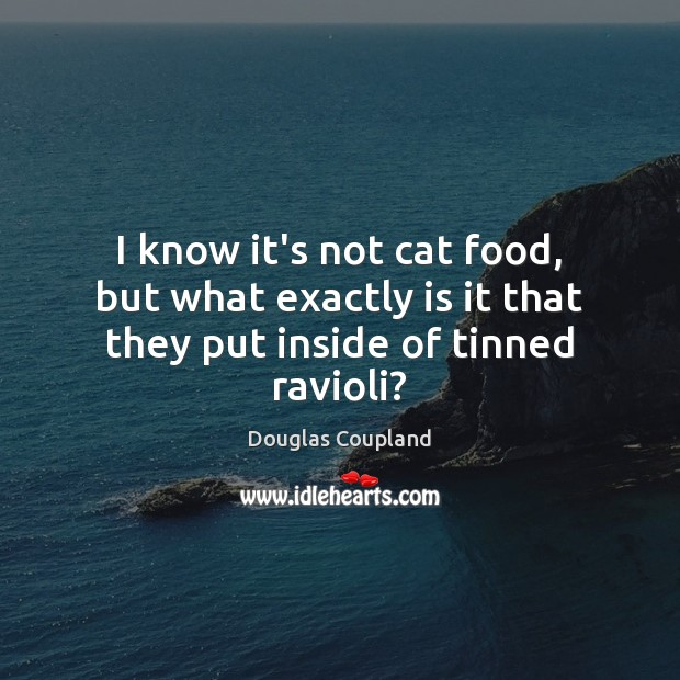 Image, I know it's not cat food, but what exactly is it that they put inside of tinned ravioli?