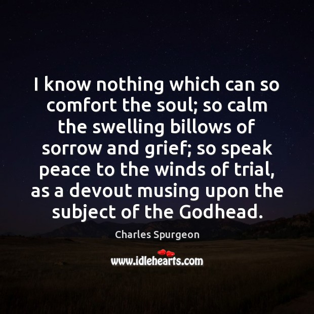 I know nothing which can so comfort the soul; so calm the Image