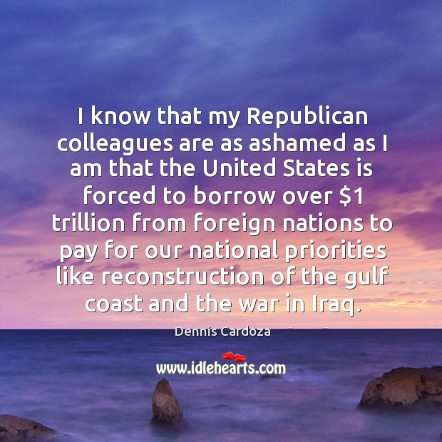I know that my republican colleagues are as ashamed as I am that the united states Image