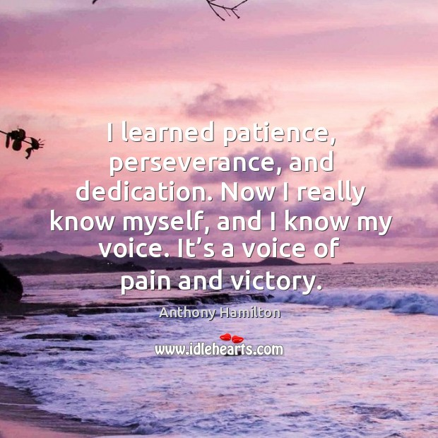 I learned patience, perseverance, and dedication. Image