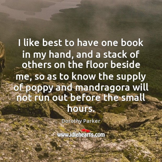 I like best to have one book in my hand, and a Image