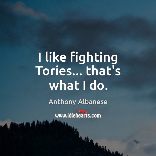 Image, I like fighting Tories… that's what I do.