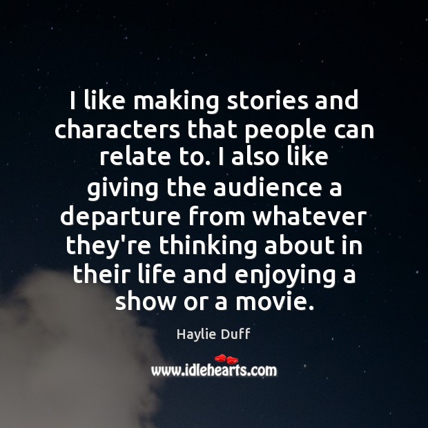 I like making stories and characters that people can relate to. I Image