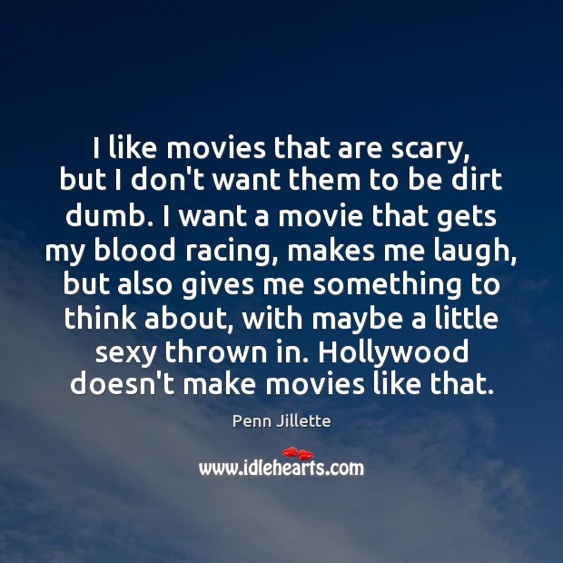 Image, I like movies that are scary, but I don't want them to