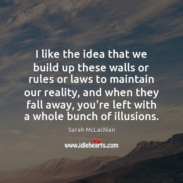 Image, I like the idea that we build up these walls or rules