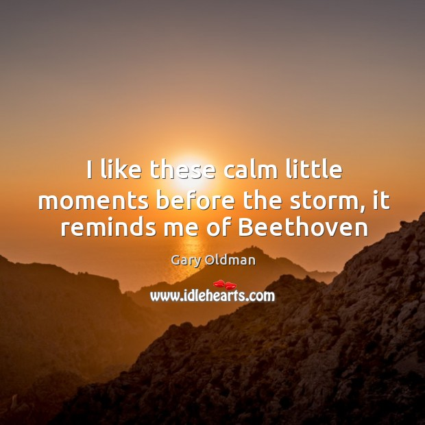 I like these calm little moments before the storm, it reminds me of Beethoven Image