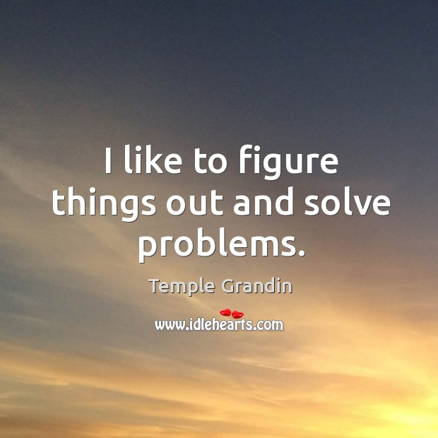 I like to figure things out and solve problems. Image