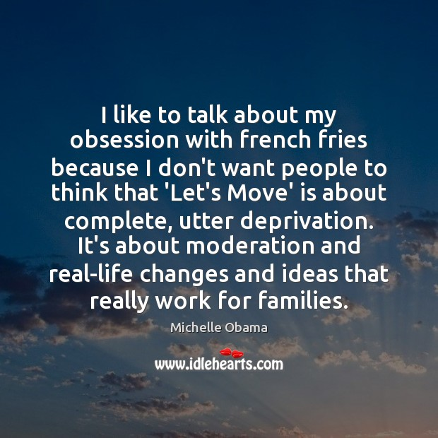 I like to talk about my obsession with french fries because I Image