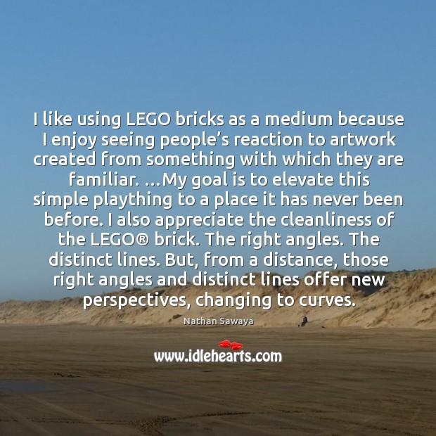 I like using LEGO bricks as a medium because I enjoy seeing Image