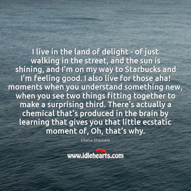 Image, I live in the land of delight – of just walking in