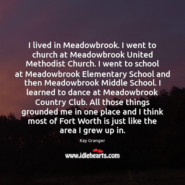 I lived in Meadowbrook. I went to church at Meadowbrook United Methodist Image
