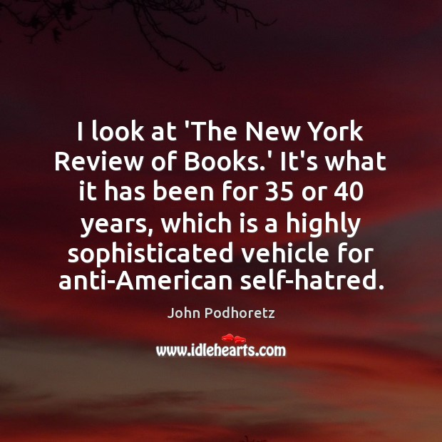 Image, I look at 'The New York Review of Books.' It's what