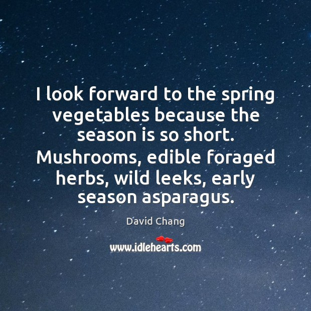 Image, I look forward to the spring vegetables because the season is so