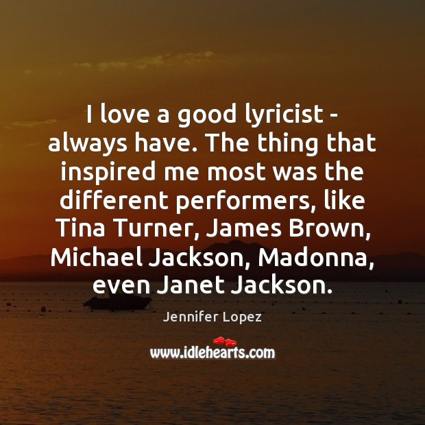 I love a good lyricist – always have. The thing that inspired Image