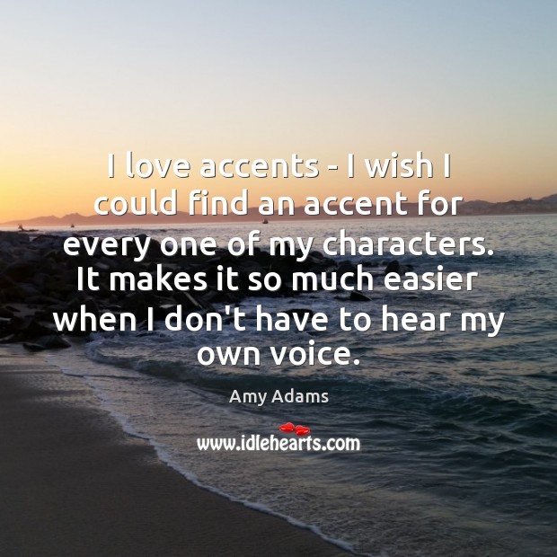 Image, I love accents – I wish I could find an accent for