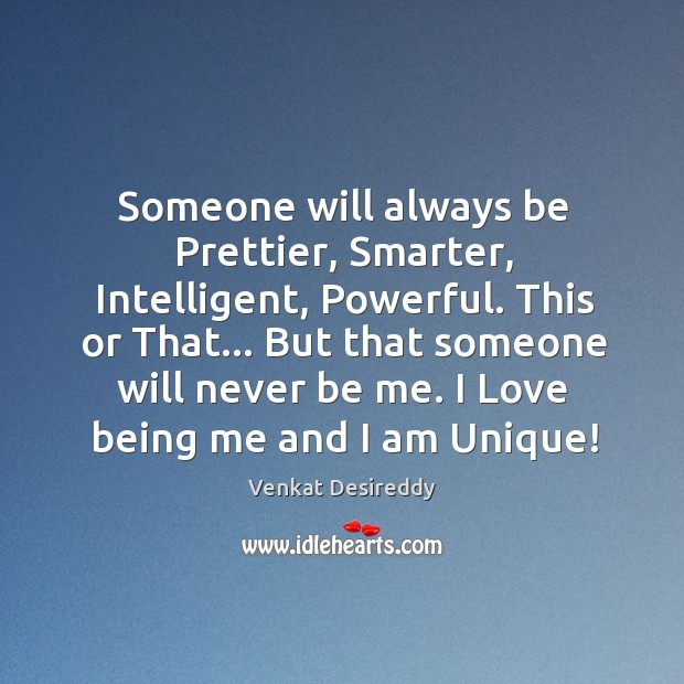 Image, I love being me and I am unique!