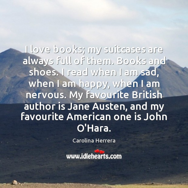I love books; my suitcases are always full of them. Books and Image