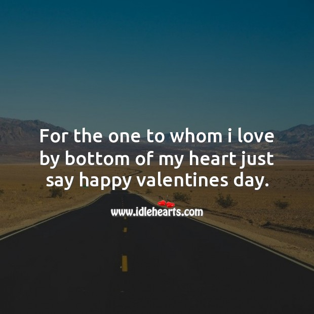 I love by bottom of my heart Valentine's Day Quotes Image