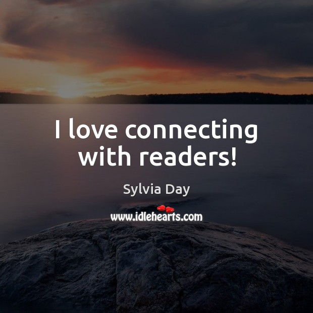 I love connecting with readers! Image