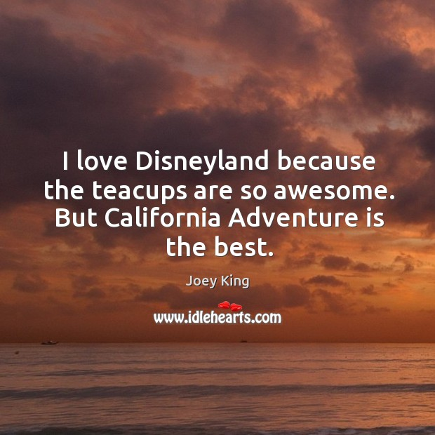 I love Disneyland because the teacups are so awesome. But California Adventure Image