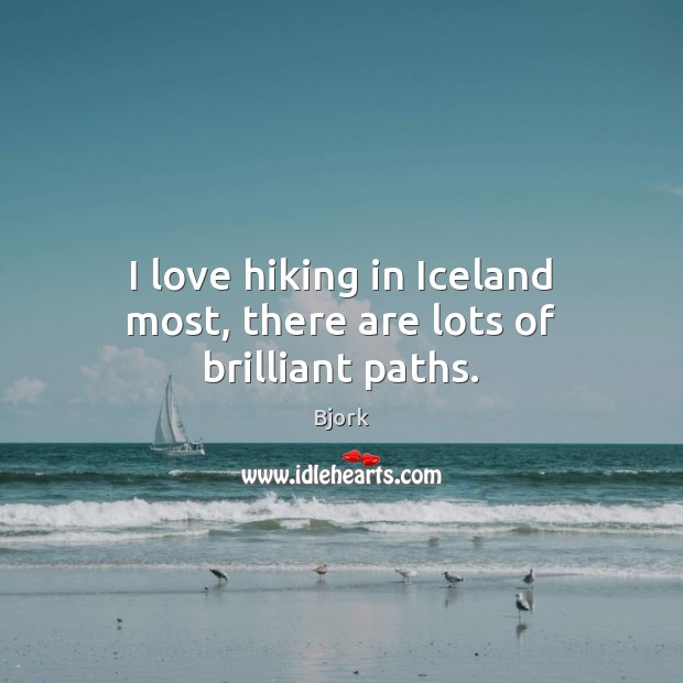 Image, I love hiking in Iceland most, there are lots of brilliant paths.