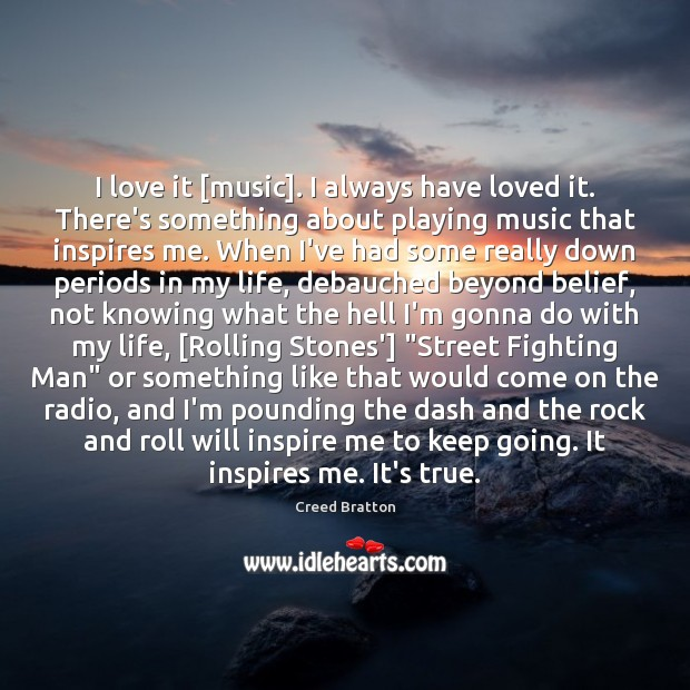 I love it [music]. I always have loved it. There's something about Image